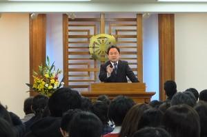 説教者:盧 明燮(ノ・ミョンソプ)教会長